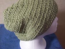 Buy Hand Crocheted Light Green Single and Half Double Crocheted Women's Teens Hat