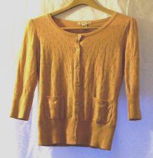 Buy EUC women's, Sz. L,, Love by Design, tan, button-down, long sleeve, sweater