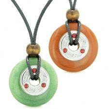Buy Amulets Large Celtic Triquetra Knot Coins Love Couples Yin Yang Powers Green Quartz R