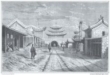 Buy CHINA - YOUN-TCHEN-SIAN TOWN - engraving from 1875