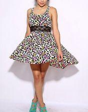 Buy Trendy Women KENZO INSPIRED ,ANIMAL PRINT With Black Lace Sundress ,