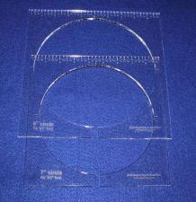 """Buy 2 Piece Inside Circle Set w/Rulers 7"""" & 8"""" ~1/4"""" Thick Long Arm For 1/2"""" Foot"""
