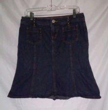 Buy EUC women's sz. 9/10 PERSONAL IDENTITY blue denim skirt
