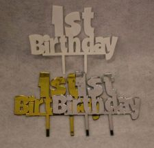 "Buy First Birthday Cake Topper - 1/8"" Acrylic -"