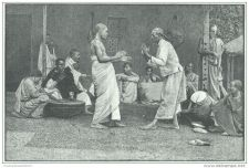 Buy CHOA, ABYSSINIA (AFRICA) - FOLK DANCE OF THE NATIVES - engraving from 1889