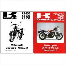 Buy 83-85 Kawasaki GPz400 GPz550 Z400F Z400F-II Z500 Z550F Service Repair Manual CD