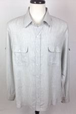 Buy Vince Shirt Mens XL Gray Cotton Long Sleeve