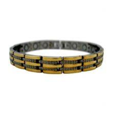 Buy HEALING PAIN REDUCE STRESS IMPROVE SLEEP MAGNETIC Titanium Bracelet EJWJ-1242SG
