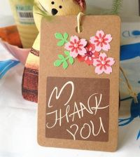 Buy Cute Flower Thank You Tag - Set of 10