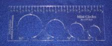 """Buy 4 Hole Mini-Circle Quilt Template w/Ruler 1/4"""" Thick - Long Arm- For 1/2"""" Foot"""