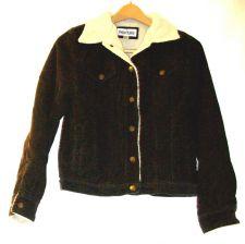 Buy EUC women's sz. S, MARVIN RICHARDS, brown, sherpa lined snap corduroy coat
