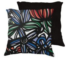 Buy Balok 18x18 Red Blue Green White Black Pillow Flowers Floral Botanical Cover Cushion