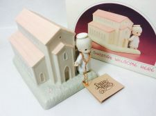 Buy Precious Moments 523011 There's A Christian Welcome Here 1989 - MIB