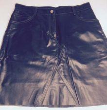 Buy Coach Women's Soft Leather Mini Skirt w/ lining Above Knee Sz 4 BLK Denim Style