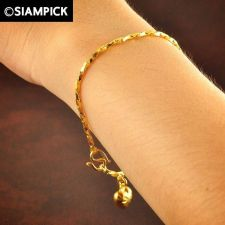 Buy Thai 22k 24k Baht Yellow Gold Plated GP Bracelet Rope Chain Bangle Jewelry B023