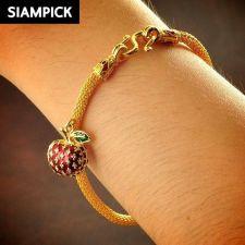 Buy 22k 24k Enamel Thai Baht Yellow Gold Plated Bracelet Chain Bangle Jewelry B095