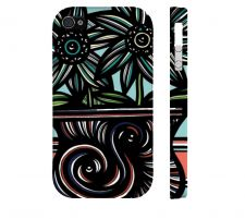 Buy Omelia Red Green Iphone 4/4S Apple Phone Case Flowers Botanical