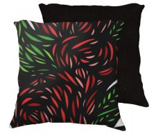 Buy Kuse 18x18 Red Green White Black Pillow Flowers Floral Botanical Cover Cushion Case T