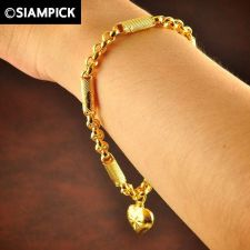 Buy Thai 22k 24k Baht Yellow Gold Plated GP Bracelet Rolo Chain Bangle Jewelry B008