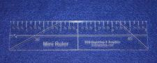 """Buy 8"""" Mini-Ruler. Acrylic ~1/4"""" thick. Quilting/Sewing"""