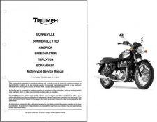 Buy Triumph Bonneville T100 Thruxton Scrambler America Speedmaster Service Manual CD
