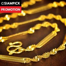 """Buy 18"""" Rope Chain 22k 24k Necklace Thai Baht Yellow Gold GP Long Jewelry Mens N075"""