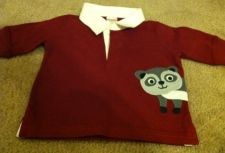 Buy Gymboree Pirate Adventure Long Sleeve Rugby Cotton Shirt Racoon Size 3-6 Months