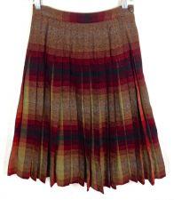 Buy VTG Pendleton Skirt Womens M Brown Wool Pleated