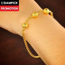 Buy Dubai Beads Chain 22k 24k Thai Baht Yellow Gold GP Bangle Bracelet Jewelry B137