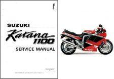Buy 88-94 Suzuki GSX1100F Katana Service Repair Manual CD ---- GSX 1100 F GSX1100