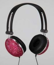 Buy Tri-Coastal Pink Bling Headphones NIP
