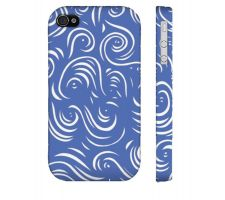 Buy Karvis Blue White Iphone 4/4S Phone Case