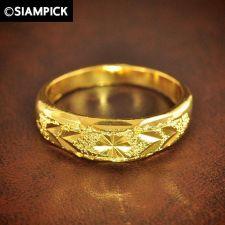 Buy 24k Engagement Ring Wedding Thai Baht Yellow Gold GP Size 7.25 Jewelry Gift 1#