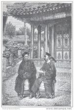 Buy CHINA - COUNCIL OF FOREIGN TRADE MEMBERS - engraving from 1874