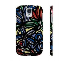 Buy Ziolkowski Red Blue Flowers Samsung Galaxy S4 Phone Case