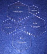 "Buy Laser Cut Quilt Templates- 6 Piece Hexagon - Clear Acrylic ~1/4"""