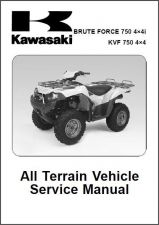 Buy 05-07 Kawasaki Brute Force 750 4X4i / KVF750 4X4 Service Repair Manual CD - KVF