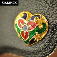 Buy Thai Stud Earrings Enamel 22k 24k Baht Yellow Gold Plated GP Real Jewelry E021