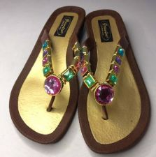 Buy Grandco Sandals Flip Flop Slides Women Footwear Shoes Pool Lake Brown 7 8 9 10