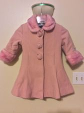Buy Rothschild Pink Wool Coat Girls Size 3t Faux Fur