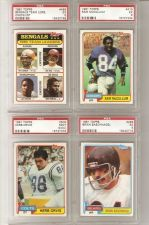 Buy 1981 Topps PSA Graded Football Lot of 4