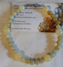 "Buy calcite and italian ""onyx"" handmade anklet sizing available"