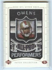 Buy NFL 2003 UD Patch Collection Terrell Owens Patch MNT