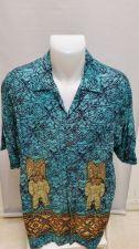 Buy Pineapple Connection Hawaiian Shirt Tiki Statues L