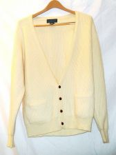 Buy EUC men's, Sz. L, Christopher Hayes, ivory, long sleeve, cardigan, sweater
