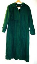 Buy EUC women's, sz.12, TOWNE by London Fog, forest green, zip-in liner, trench coat