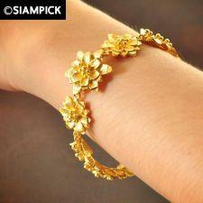 Buy Dubai Beads Chain 22k 24k Thai Baht Yellow Gold GP Bangle Bracelet Jewelry B138