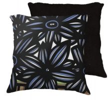 Buy 22x22 Angelillo Blue White Black Pillow Flowers Floral Botanical Cover Cushion Case T
