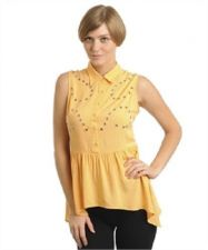 Buy Womens Fashion Casual APRICOT TOP Hi-Low Peplum top,S,M,L