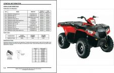 Buy 12-13 Polaris Sportsman 400 HO 500 Touring Forest ATV Service Repair Manual CD